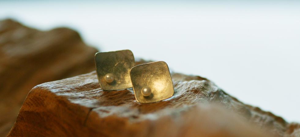 Ohrstecker Silber mit Süßwasserperle