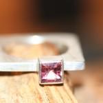 reprise 8a     Silberring mit rosa Turmalin, Größe 58,     135,- €
